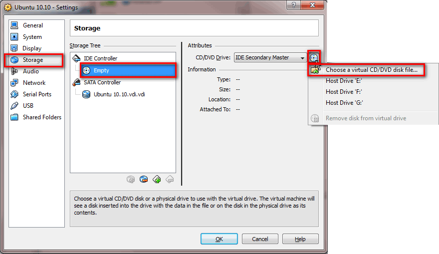 how to access host cd drive in virtualbox