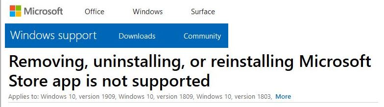 Reformatted MS Support banner info