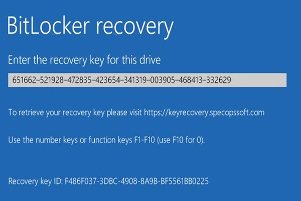 Example of a bitlocker recovery screen
