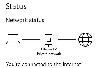"""Network status should likely say """"private"""""""