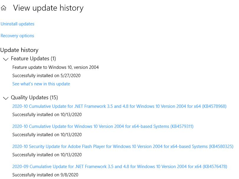 For most most update history items, there's an associated KB article.
